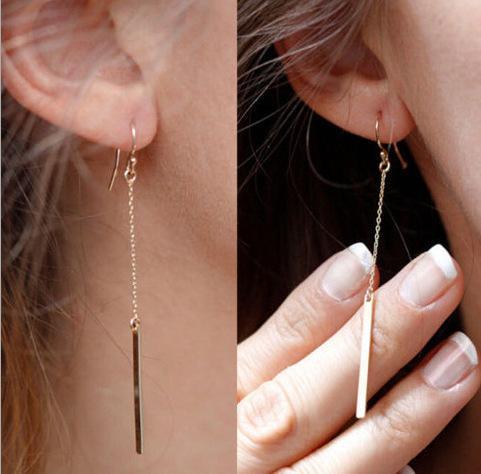 Brincos de moda jóias liga Barras dangle brinco presente mulheres Moderna Elegante Pendurado queda Ear Acc Ouvido Acc eardrop rua snap Livre DHL