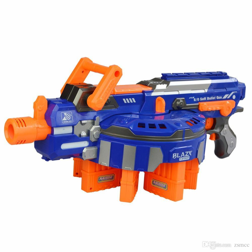 Free Shipping Electric Toy Gun NERF Toy Guns 48pcs Soft Bullet Big Gun Launchers CS Outdoor Toys Kids Children's Birthday Gift