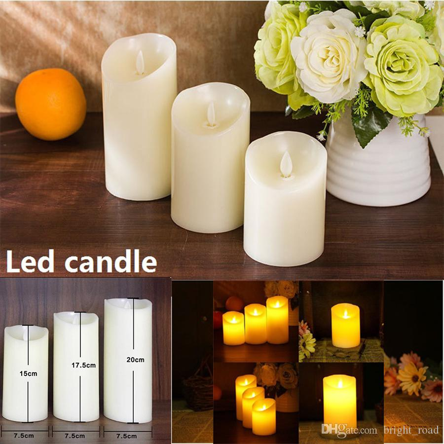 led candle light tea lights battery flicker flameless decoration candle wedding party christmas decoration lights simulation candles candles led lights