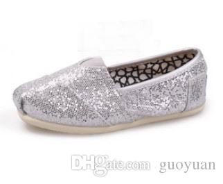 2015 DORP shipping NEW Children's or girl's kind's Classic comfortable canvas shoes EVA casual glitter Flat shoes shoe