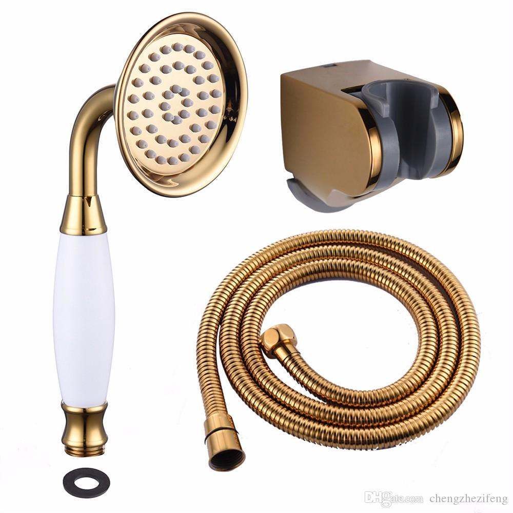 2018 Telephone Shower Head Handheld Shower Sprayer Brass Metal Pvd ...