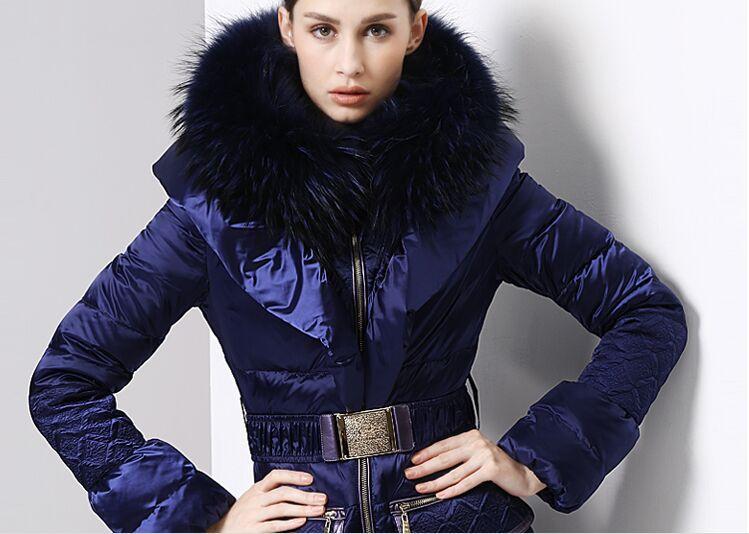 2018 2016 Royalcat White Duck Down Winter Blue Long Down Jacket ...