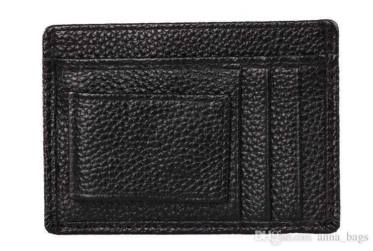high quality fashion short purse super slim brown black business style magnet money clip men designer genuine leather wallets