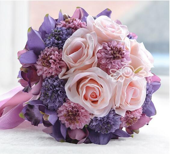high quality custom bridesmaids bouquets artificial flower wedding, Beautiful flower