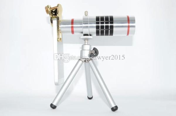 Gato universal clipe 18x ampliação lente do telefone móvel 18x zoom telescópio lente de telefoto óptico para iphone smartphones na caixa de varejo