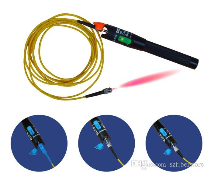 High Quality 30mW Optical Fiber Cable Tester, Fiber Optic Visual Fault Finder 20-25Km Range 650+10nm Red pen