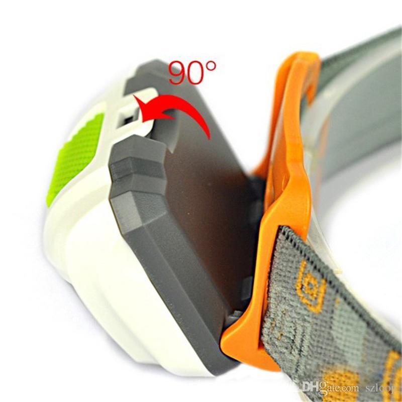 Portable CREE R3 Projecteurs 2 LED Lampe De Poche Phares Extérieur 300LM Phare Avec Bandeau Randonnée Camping Torch 2503020