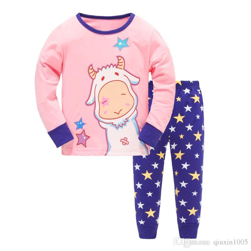 2017 außenhandel aus reiner baumwolle kinderkleidung für warme kinder pyjamas mode kinder kleidung anzug im herbst winter