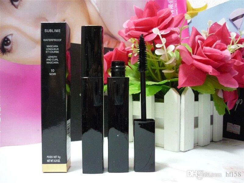 fábrica de maquillaje al por mayor más nuevo de alta quatliy marca 6g negro DHL envío libre del rimel