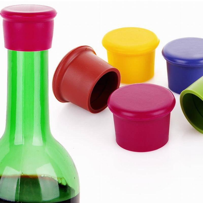 DHL Fashion Creative Home Wine Beer Cap Silicone Wine Beer Cover Bottle Cap Stopper