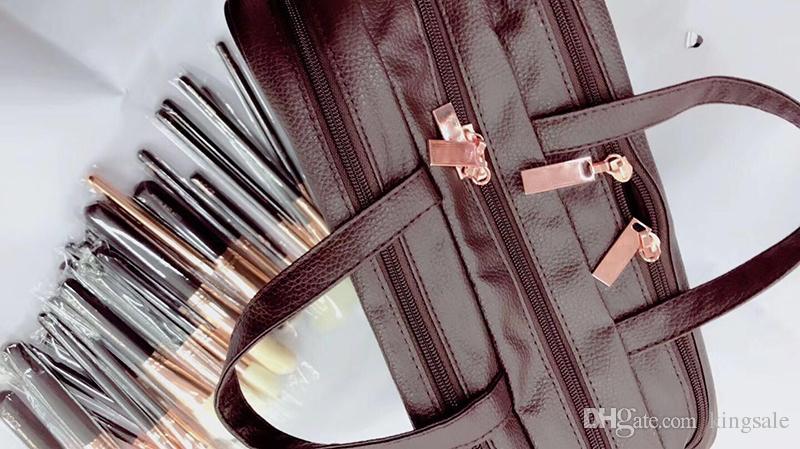 escovas de alta qualidade estabelecidos com pincéis de maquiagem kit saco saco de cosmética = transporte DHL escova