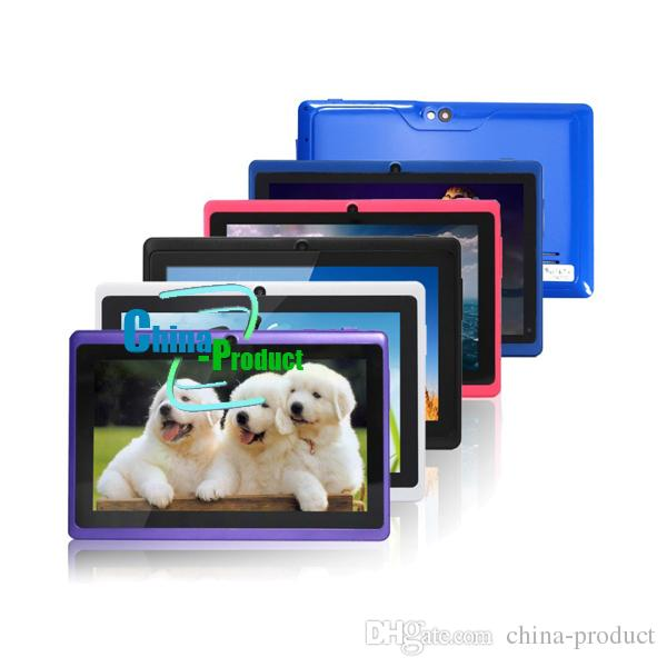 7Inch A33 Q88 ALLwinner quad core Phablet Android 4.4 External 3G capacitive screen A33 phone call 4GB Wifi Five colors 002609