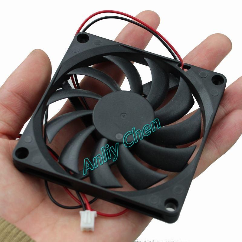 Wholesale- 1 Pcs GDT Brushless Axial Industrial Flow Cooling Fans 80mm 80x80x10mm 8010S DC 12V 2P Duct Ventilation Cooler Fan