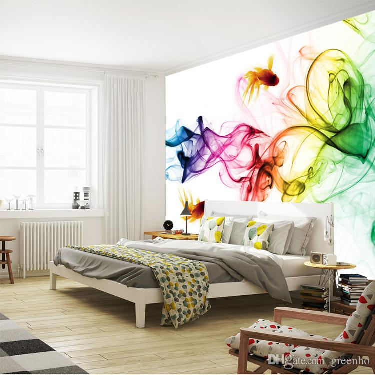 Modern Smoke Fog Wallpaper 3d Photo Goldfish Wall Mural Childrens Room Bedroom Living Art Decor Sofa Tv Background Widescreen