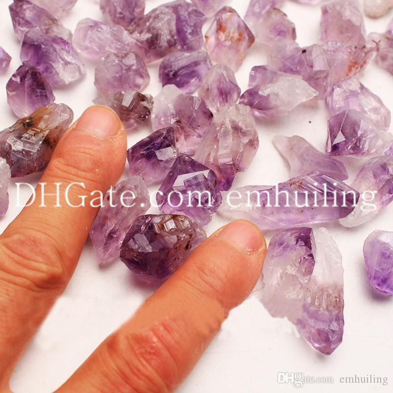 Original Amethyst Crystal Mineral Rock Freeform Rough Point Amatista Stone Raw Amethystine Gemstones Small Undrilled Loose Amethyst Beads