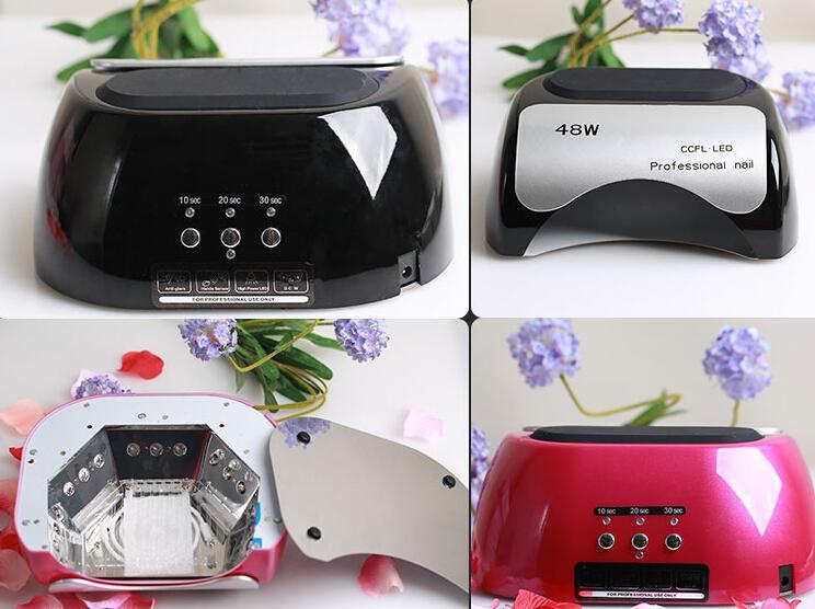 Professional Nail Dryer 48W CCFL UV LED Lampe for Nail Gel Polish Nail Art Tool 110-220V