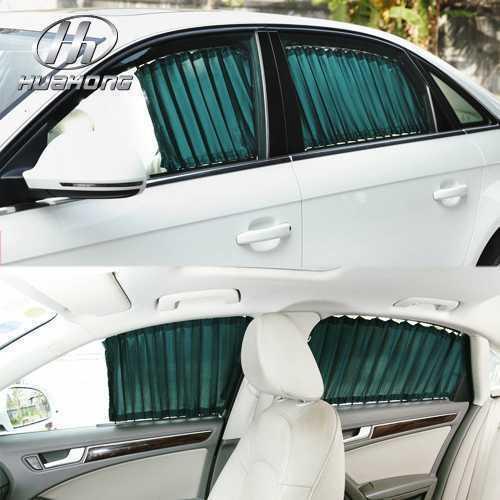 Car Window Curtain Sticker Blinds SunShades Prevent Bask