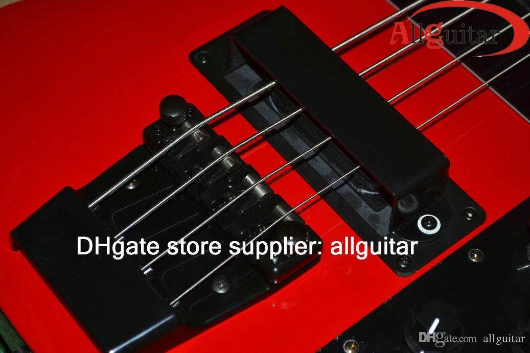 Редкие 4003 BASS Красных 4 струнного бас черного Аппаратный Китай Электрический бас-гитара