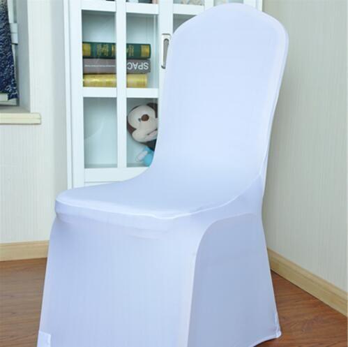 يونيفرسال الأبيض دنة كرسي حفل زفاف يغطي الأبيض دنة غطاء كرسي ليكرا لحفل زفاف للولائم العديد من الألوان