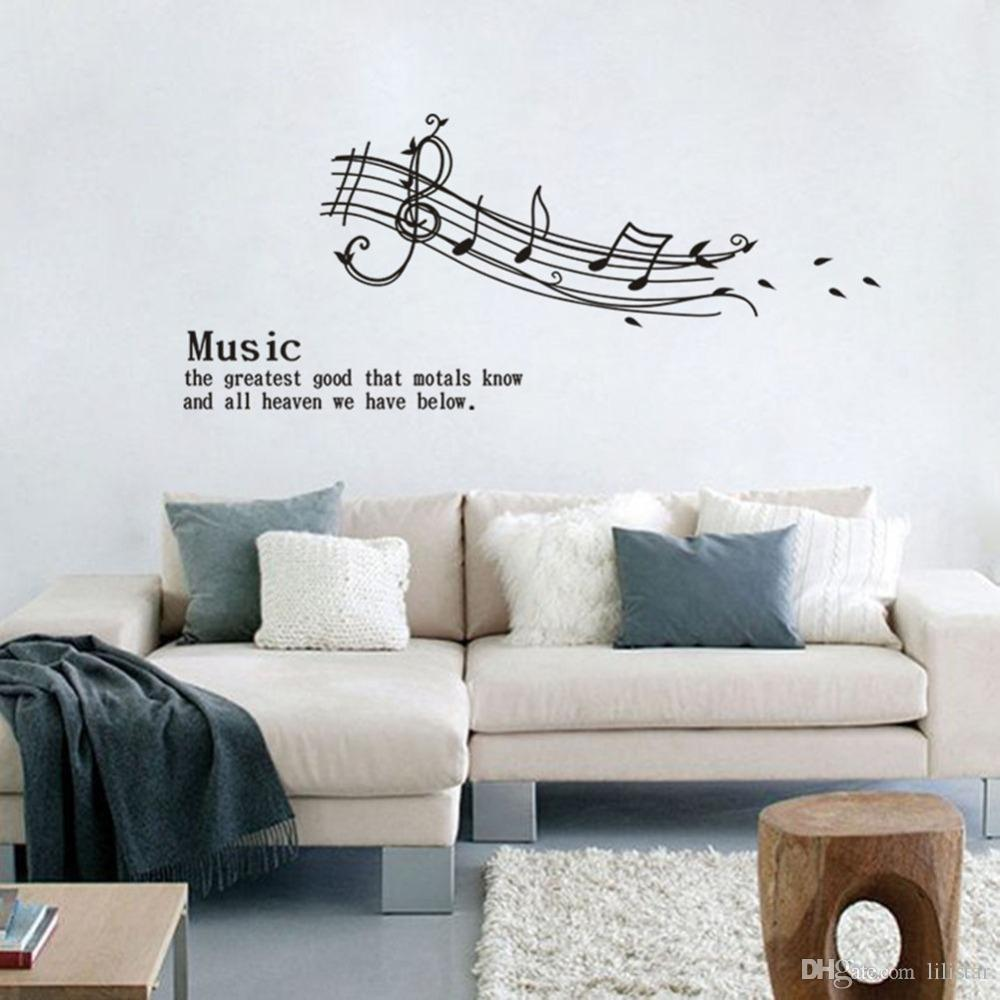 Large Music Sticker Music the Greatest Good That...Bedroom Decor ...