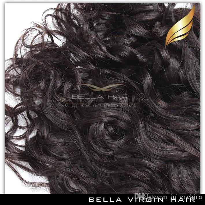 Bella Hair® 8A Brazilian Hair Weave Unprocessed Natural Color Natural Wave Wavy Hair Extensions Double Weft 8~30inch
