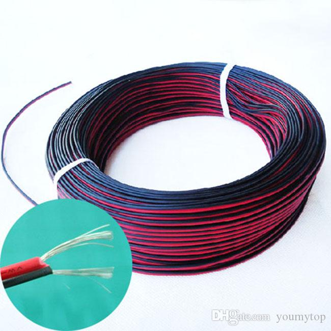 22 AWG 600M New 2-Pin Extension Wire Cable For 3528 5050 Single Color LED Strip 2 pins cable wire 600M!