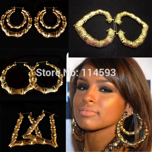 hoop vintage on jumbo rihanna seen as dangle gold chanel earrings plated i c