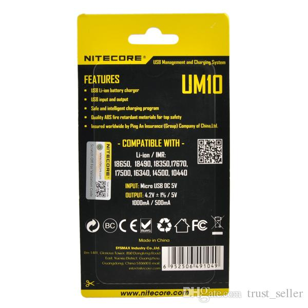 Otantik Nitecore UM10 UM20 Evrensel Intellicharger LCD Ekran E Sigara Şarj 18650 18350 18500 14500 Li-on IMR Batarya