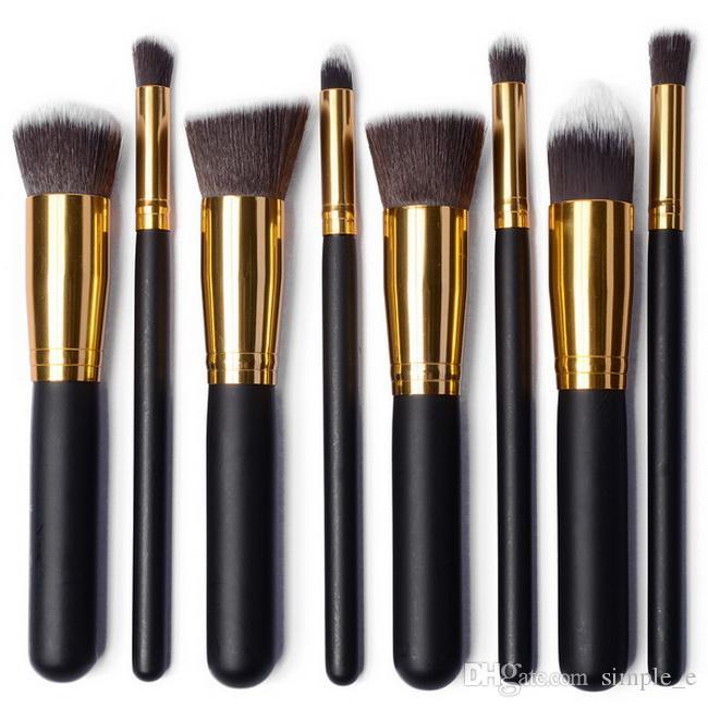 Hot Sale 8in1 Pro Professional Makeup Set Kits Foundation Pulver Makeup Kosmetika Borstverktyg Partihandel DHL Gratis frakt