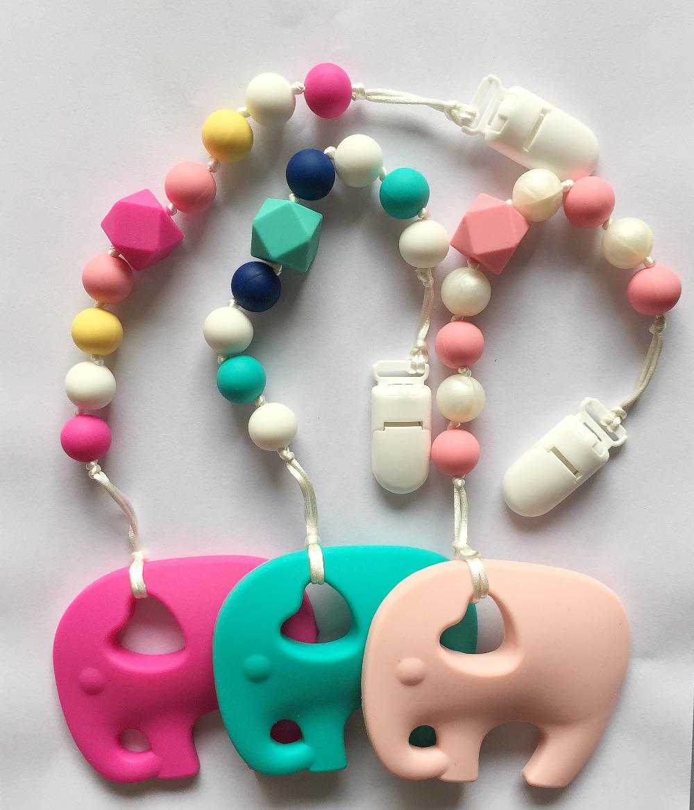 2018 bpa silicone baby teething pendant clips silicone teething 2018 bpa silicone baby teething pendant clips silicone teething pacifier clip with large elephant pendant heart chew beadswholesale from cssilicone aloadofball Choice Image
