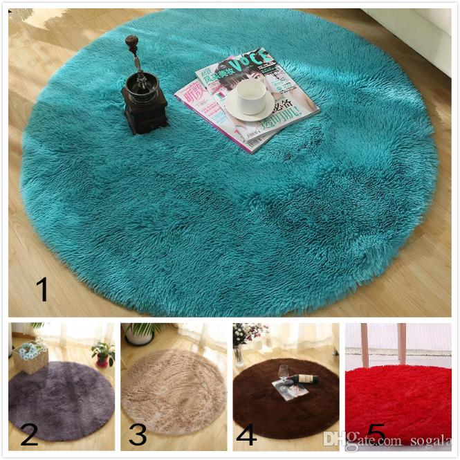 Round Floor Carpet Plush Area Rugs for Dining/Living Room Home ...