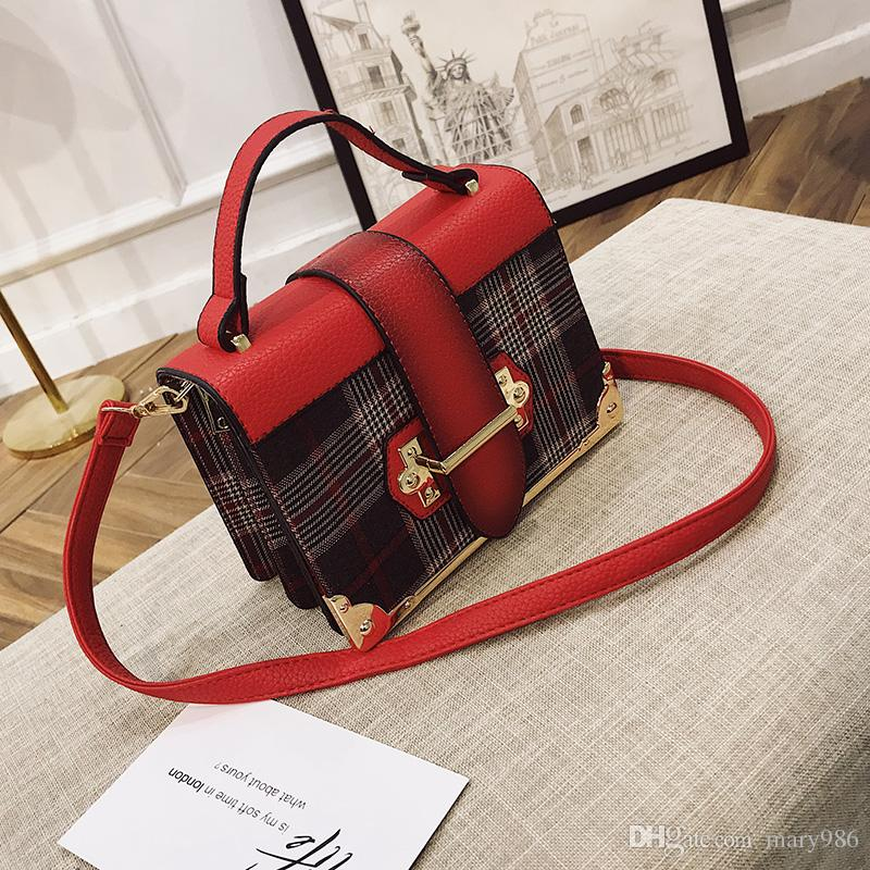 China Brand Handbag Woman Bags Famous Design Brand Shoulder Bag Plaid Cross  Body Women Messenger Bag Women Handbag Clutches Purses Wholesale Mens  Leather ... 6715eb892b