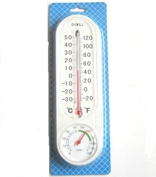 Medidor de humedad montado en la pared del higrómetro del termómetro análogo del hogar