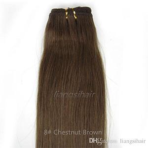 Super pur Cheveux Weave humaine Vierge Indien Malaisie droit brésilien 100g cheveux Extensions 20
