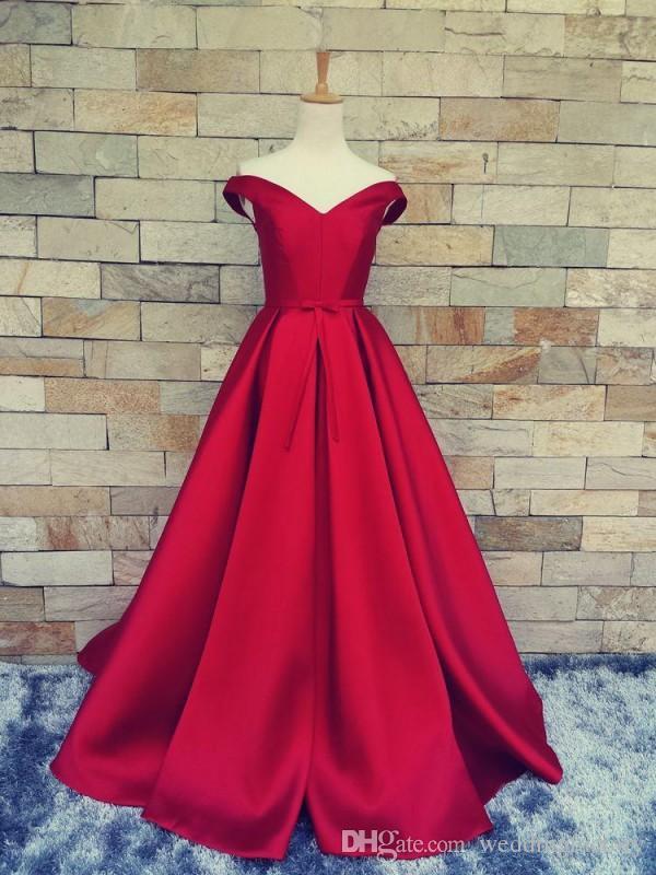 진짜 샘플 사용자 정의 어둠 레드 댄스 파티 드레스 어깨 너머로 목띠 샷시와 긴 공식적인 저녁 파티 드레스 미스 착용