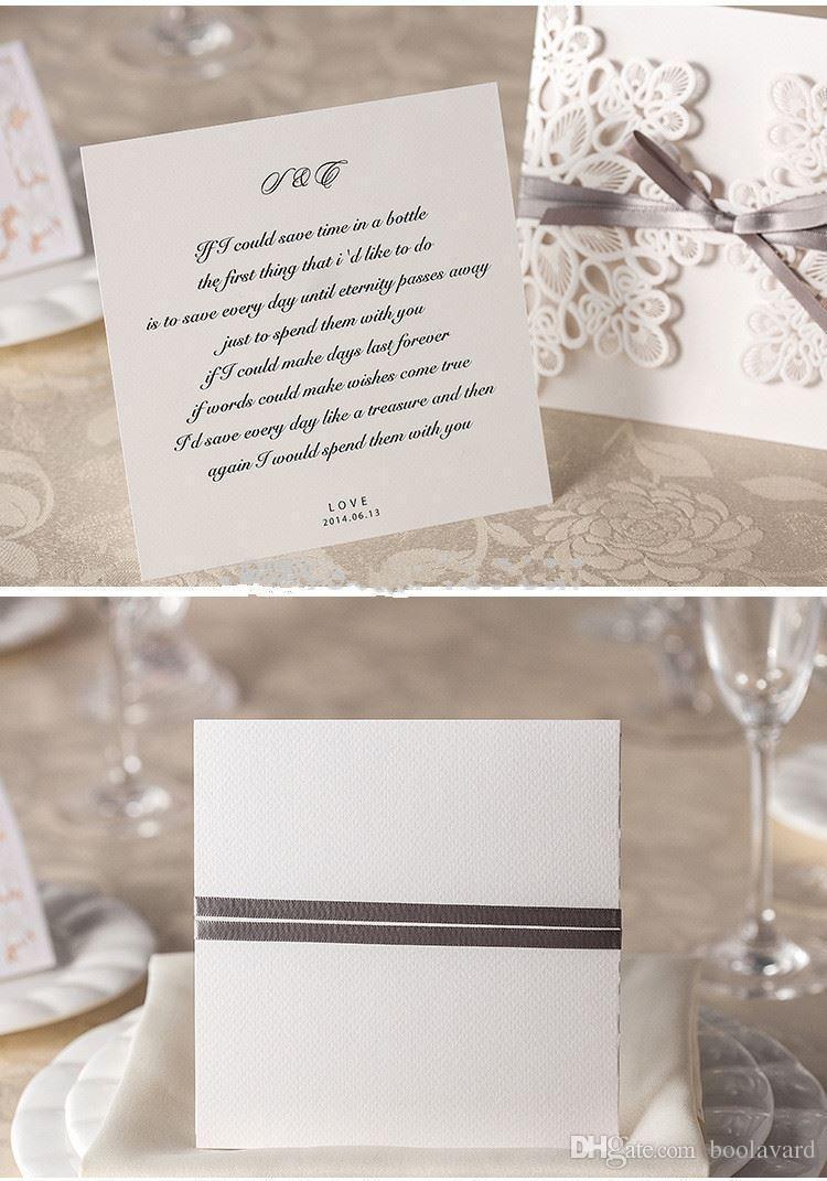 Graceful Laser Cut Pocket Envelope Wholesale Wedding Invitation 1129 ...