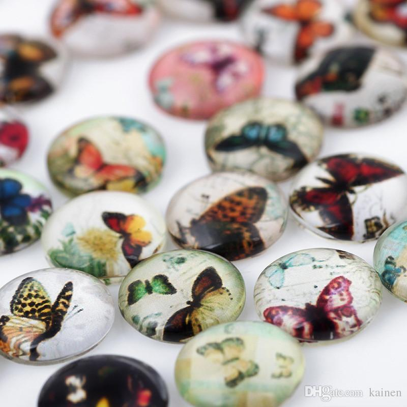 Butterfly New Paint Glass Floating Charms Floating Locket Charms Mixed Styles Fit Floating Lockets&Floating Locket Bracelet FC127