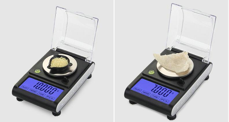 Подсветка 50 г х 0,001 г электронный ЖК-сенсорный экран цифровые весы ювелирные изделия золото бриллиант грамм шкала с горизонтальной балансировки