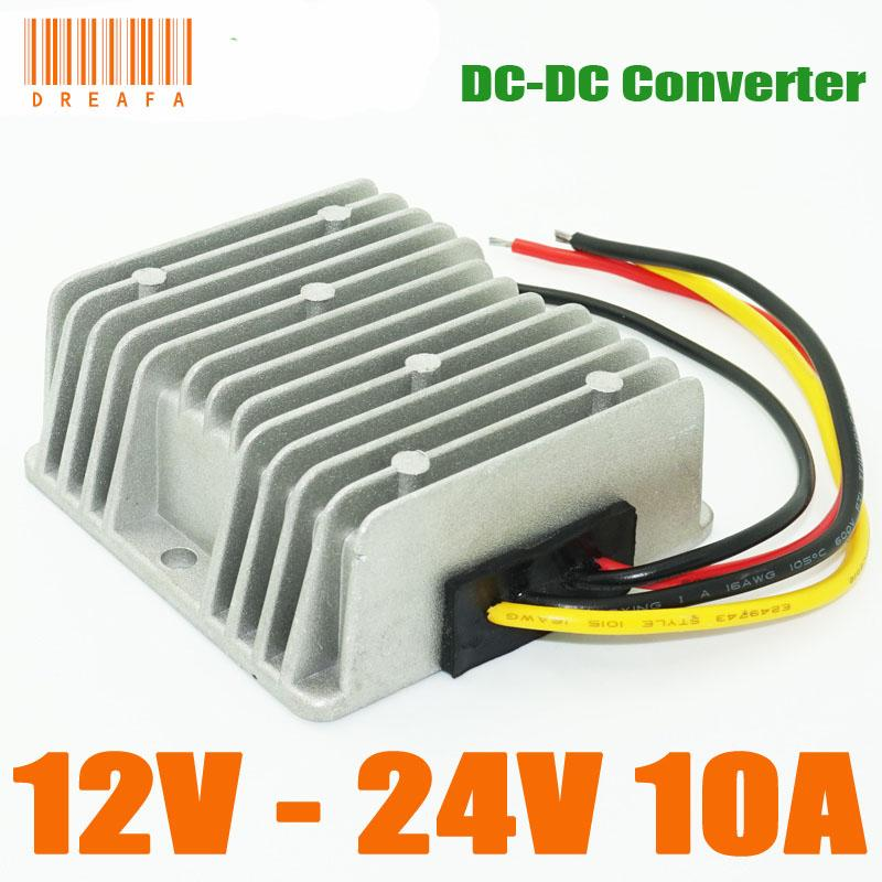 dc boost module converter 12v to 24v dc dc converter 10a 240w stepdc boost module converter 12v to 24v dc dc converter 10a 240w step up power converters regulators waterproof power transformer inverters from dreafa988,