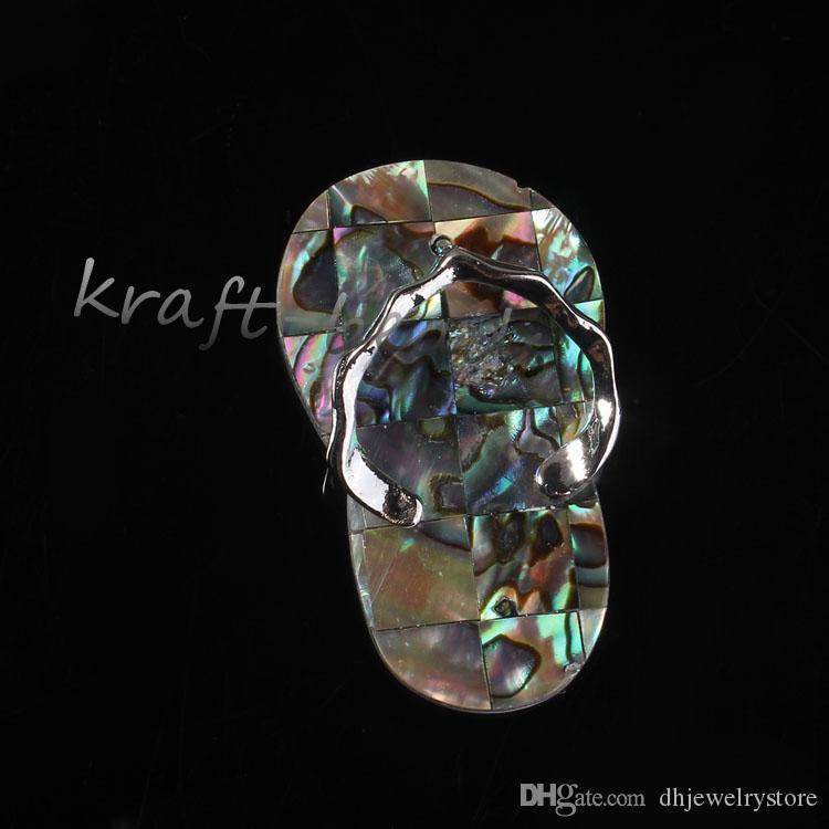 Comercio al por mayor 10 Unids Diseño Especial de La Manera de la Mezcla de La Orden Druzy Piedras de Cristal de Cuarzo Zapatillas Forma Colgante de Joyería Del Encanto