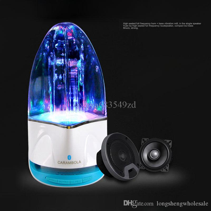 wireless Bluetooth Water Dancing Speaker Subwoofer LED light Music Speaker With TF Card Stereo Bass For Iphonex 8 7 Android phone PC