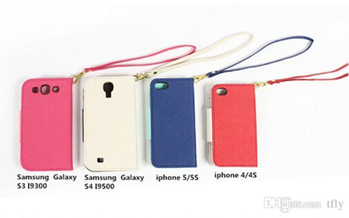 Moda pratica Little Bird Cuoio Custodie cellulari con slot schede iphone 4 4 s 5 5 s 5c 6 Plus Samsung Galaxy S4 S5 note2 3