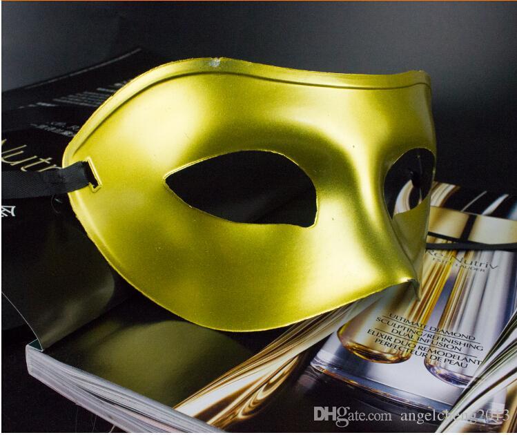 Men's Masquerade Mask Fancy Dress Venetian Masks Masquerade Masks Plastic Half Face Mask Optional Multi-color Black, White, Gold, Silver