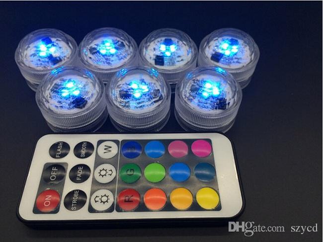 10 teile / satz Hochzeitsdekoration Mit Fernbedienung Wasserdichte Led Party Tee Mini Licht Mit Batterie Für Halloween Weihnachten
