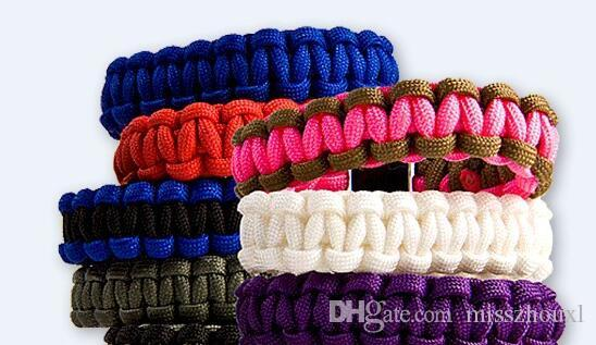 you pick Self-rescue Paracord Parachute Cord Bracelets Survival bracelet Camping Travel Kit 2015 new
