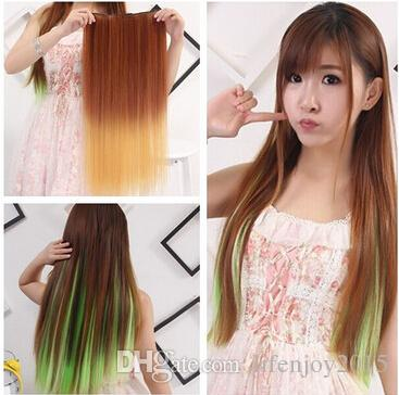 2018 most fashionable long straight hair colored hair extensions 2018 most fashionable long straight hair colored hair extensions and hair pieces double color gradient five card straight hair a chip fragments from pmusecretfo Image collections