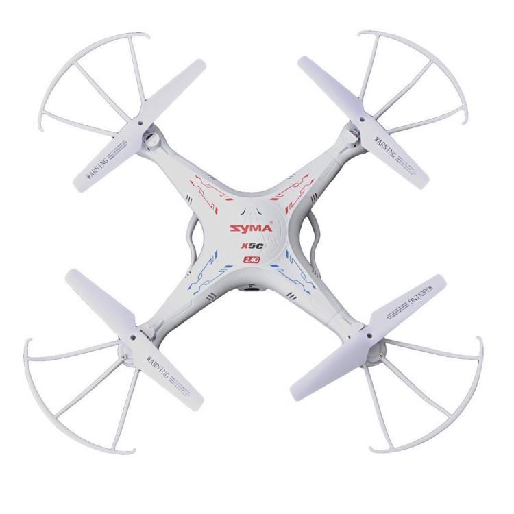 RC Helicopter Syma x5C x5C-1 Quadcopter 2.4G 6 Asse GIROBUSSOLA UFO 2 Mega Pixel Drone di controllo Quadrirotore giocattolo Radio Con telecamera HD 360 gradi LED