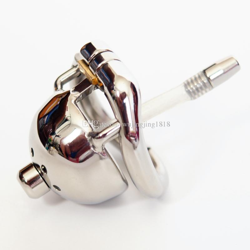 Stainless Steel Chastity Cage Super Small Male Chastity Device With Urethral Sounds Catheter BDSM Sex Toys For Men