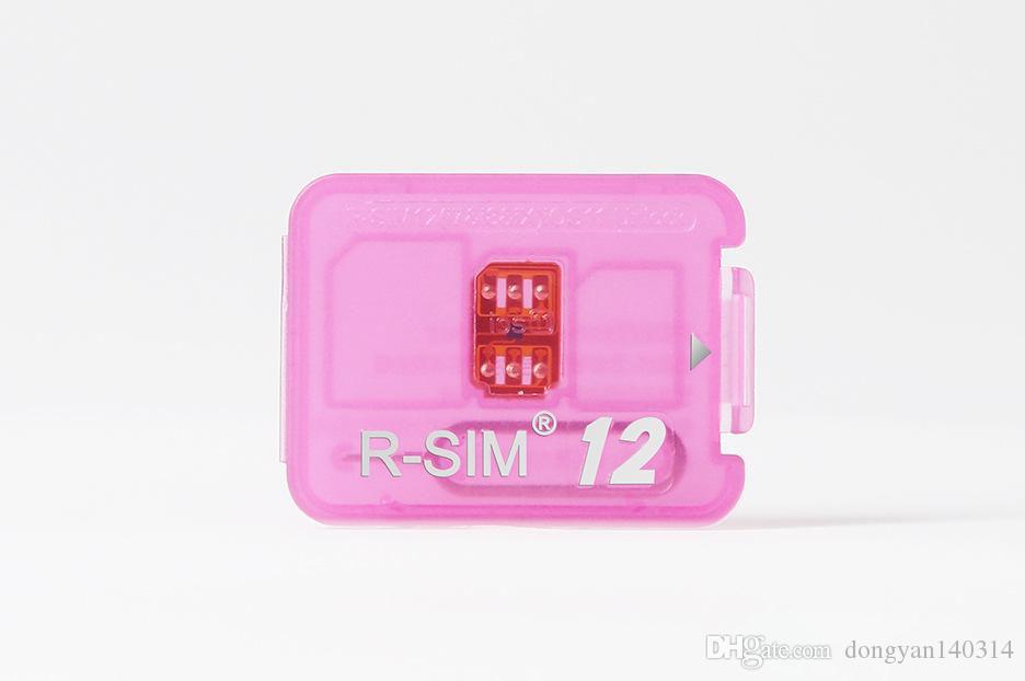 Rsim 12+ r sim 12+ RSIM12 + entsperren karte für iPhone 8 7 plus i6 entsperrt iOS 11.x-7.x 4G CDMA GSM WCDMA