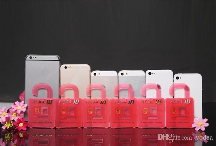 2015 Newest Unlock Card R-SIM 10 RSIM 10 R SIM 10 directly used for iphone 6/6plus/5s/5c/5 iOS6. X-8.X WCDMA GSM CDMA DHL
